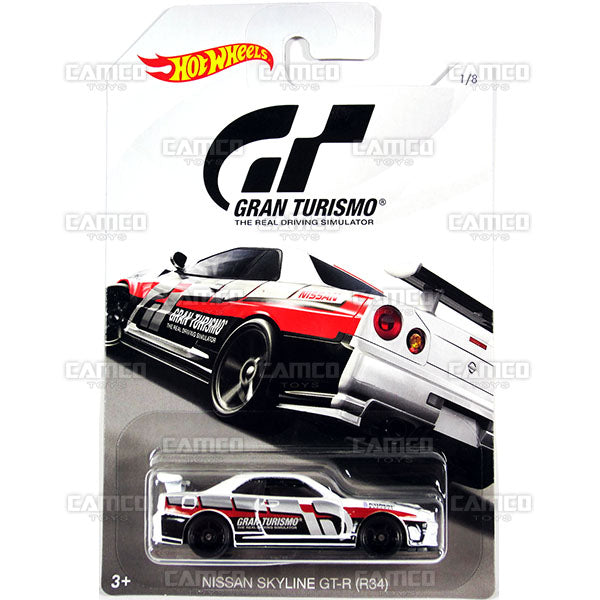 Nissan Skyline GT-R R34 - 2018 Hot Wheels GRAN TURISMO Case Assortment FKF26-999A by Mattel.