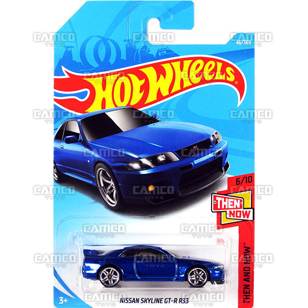 Nissan Skyline GT-R R33 #46 blue (Then and Now) - 2018 Hot Wheels Basic Mainline B Case Assortment C4982 by Mattel.