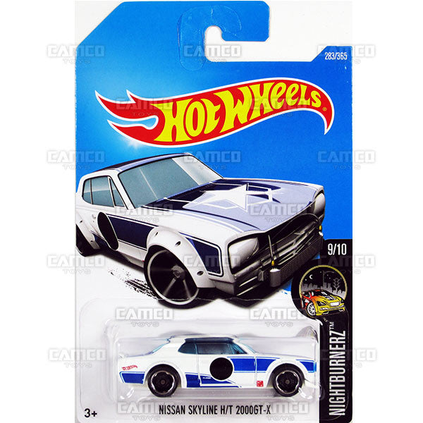 Nissan Skyline HT 2000GT-X #283 white/blue (Nightburnerz) - 2017 Hot Wheels Basic Mainline M Case - C4982