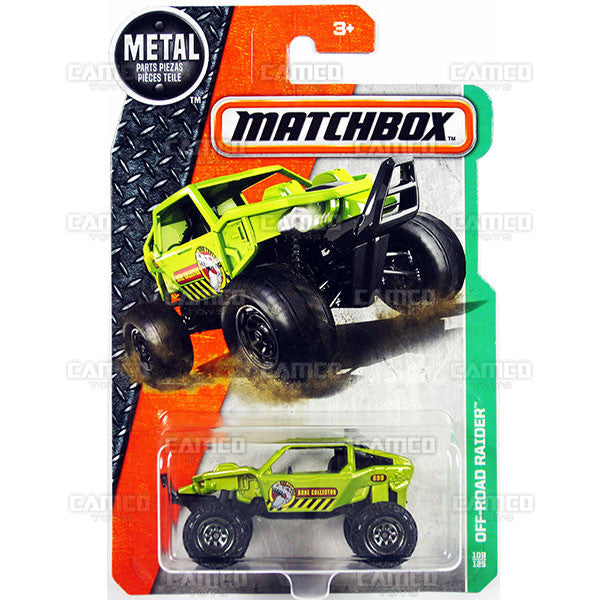 Off-Road Raider #109 green - from 2017 Matchbox Basic B Case Assortment 30782 by Mattel.