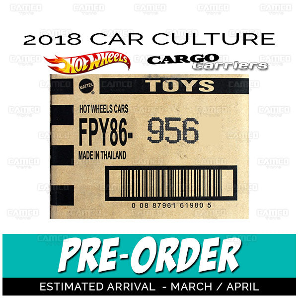 FACTORY SEALED case - 2018 Hot Wheels (Cargo Carriers) Pre-order March/April