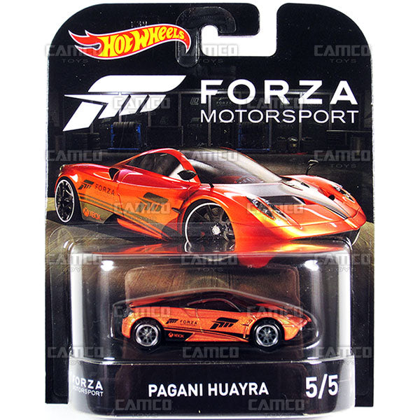 Pagani Huayra (Forza Motorsport) - 2017 Hot Wheels Retro Replica Entertainment E Case assortment DMC55-956E by Mattel.