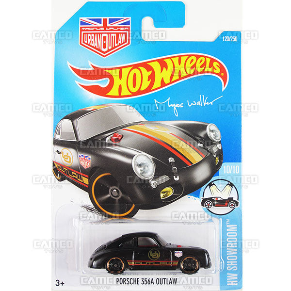 Porsche 356A Outlaw #120 Black Magnus Walker - 2016 Hot Wheels Mainline C Case WorldWide Assortment C4982