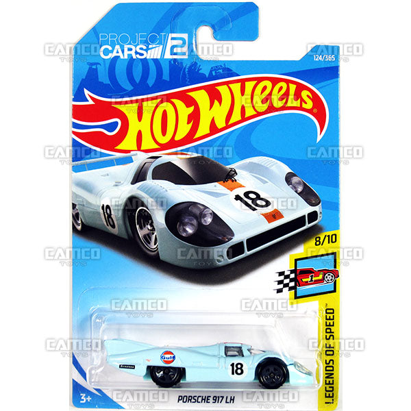 Porsche 917 LH #124 Gulf - 2018 Hot Wheels Basic Mainline F Case Assortment C4982 by Mattel.