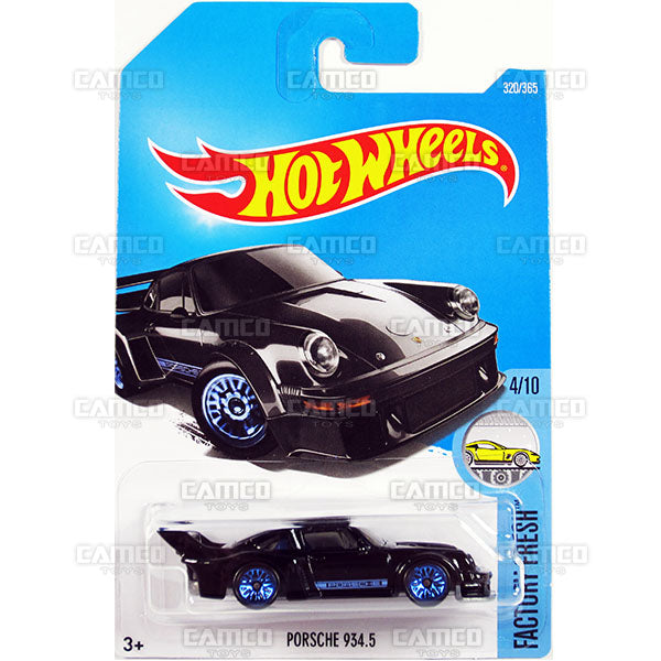 Porsche 934.5 #320 black (Factory Fresh) - 2017 Hot Wheels Basic Mainline P Case assortment C4982  by Mattel.