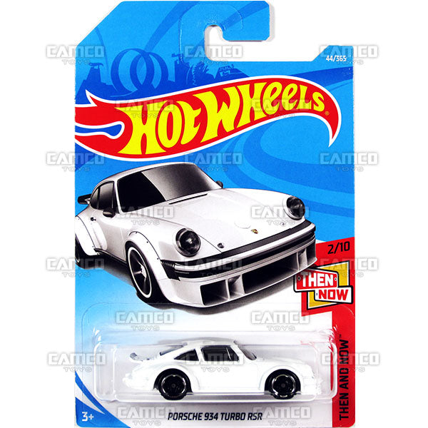Porsche 934 Turbo RSR #44 white (Then and Now) - 2018 Hot Wheels Basic Mainline B Case Assortment C4982 by Mattel.