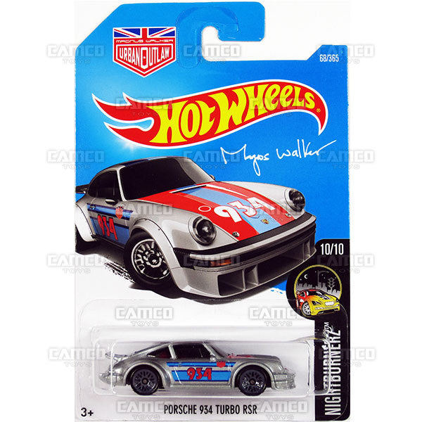 Porsche 934 Turbo RSR #68 silver Magnus Walker (Night Burnerz) - from 2017 Hot Wheels basic mainline C case Worldwide assortment C4982 by Mattel.