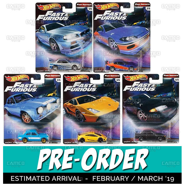 (Pre-Order) FAST & FURIOUS Factory Sealed case of 10 - 2019 Hot Wheels Premium A Case assortment GBW76-956A by Mattel.