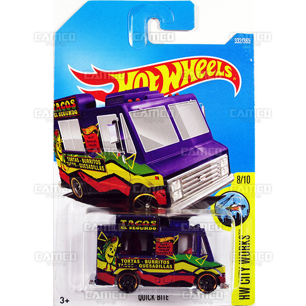 Quick Bite #332 purple (HW City Works) - 2017 Hot Wheels Basic Mainline P Case assortment C4982  by Mattel.