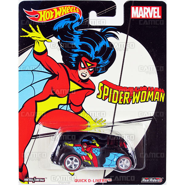 Quick D-Livery (Spider-Woman) - 2017 Hot Wheels Pop Culture WOMEN OF MARVEL Case J Assortment DLB45-956J