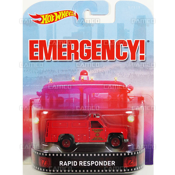 RAPID RESPONDER (Emergency) - 2015 Hot Wheels Retro Entertainment G Case BDT77-996G by Mattel