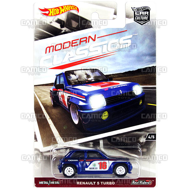 Renault 5 Turbo (MODERN CLASSICS) - 2017 Hot Wheels Car Culture K Case Assortment DJF77-956K by Mattel.