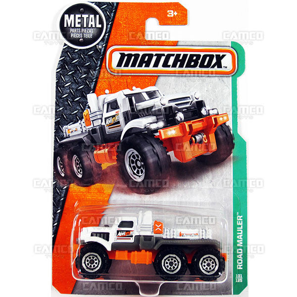 Road Mauler #101 white - from 2017 Matchbox Basic A Case Assortment 30782 by Mattel.