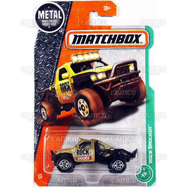 Rock Shocker #107 gold - from 2017 Matchbox Basic J Case Assortment 30782 by Mattel.