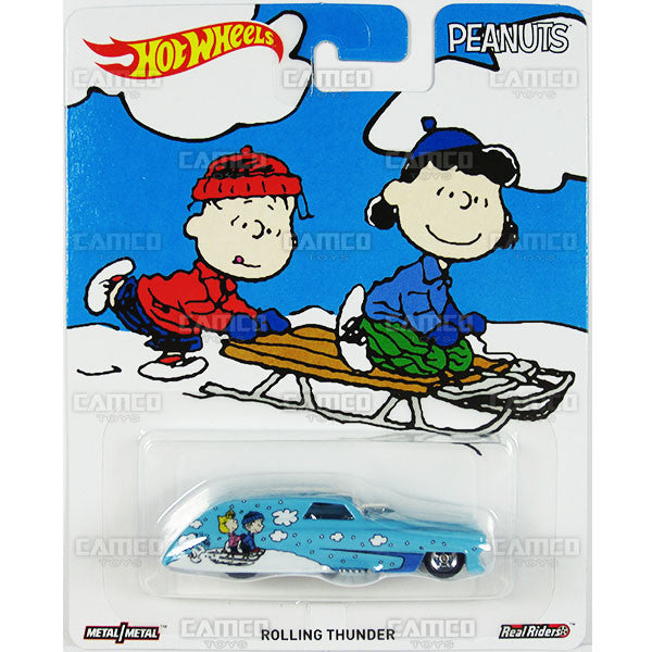 ROLLING THUNDER (Snoopy's Christmas) - from 2016 Hot Wheels Pop Culture E Case (PEANUTS) Assortment DLB45-956E by Mattel.