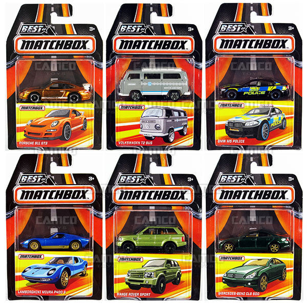SET OF 6 - 2017 Matchbox (Best of Matchbox)