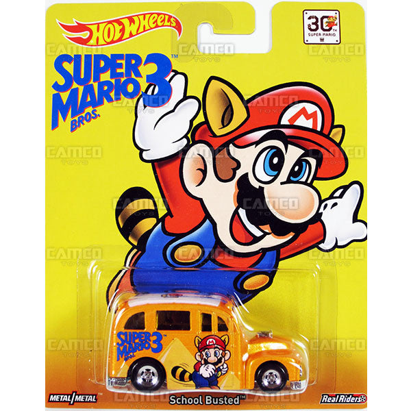 SCHOOL BUSTED (Super Mario Bros. 3) - 2015 Hot Wheels Pop Culture F Case (SUPER MARIO) Assortment CFP34-956F by Mattel.