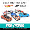 Set of 5 FORZA MOTORSPORT - 2017 Hot Wheels Retro Replica Entertainment E Case assortment DMC55-956E by Mattel.