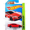 Tesla Model S #217 red (HW Workshop) - 2015 Hot Wheels Basic Mainline C4982