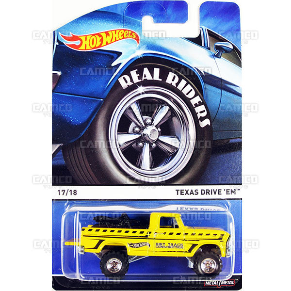 Texas Drive 'EM - 2015 Hot Wheels Heritage E Case (Real Riders) Assortment BDP91-956E by Mattel.