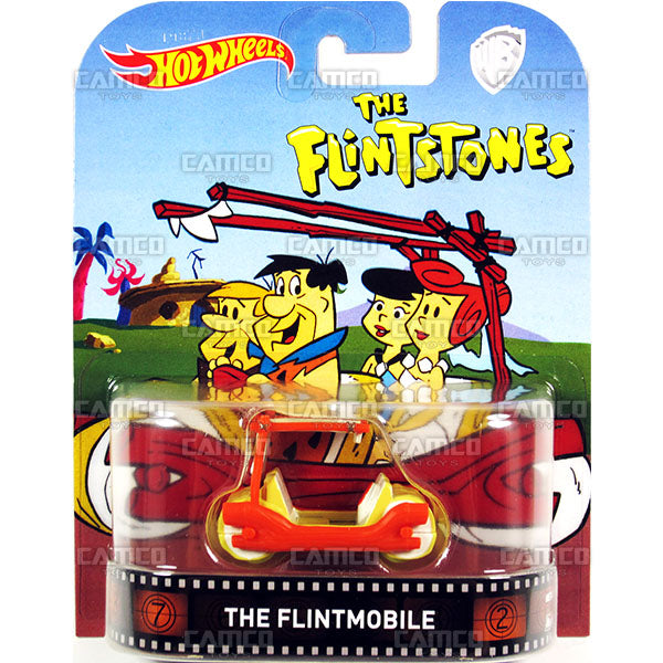 The Flintmobile (The Flintstones) - 2017 Hot Wheels Retro Replica Entertainment D case assortment DMC55-956D