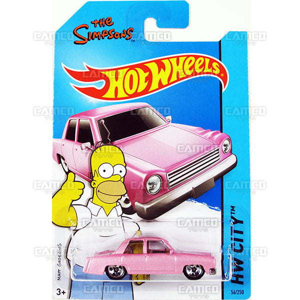 The Simpsons Family Car #56 pink (HW City) - 2015 Hot Wheels Basic Mainline C4982