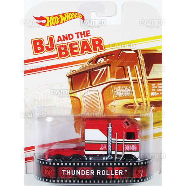 THUNDER ROLLER (BJ and the Bear) - 2015 Hot Wheels Retro Entertainment F Case BDT77-996F by Mattel