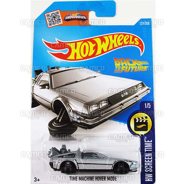 Time Machine Hover Mode #221 Back to the Future (HW Screen Time) - from 2016 Hot Wheels Basic Case Worldwide Assortment C4982 by Mattel.