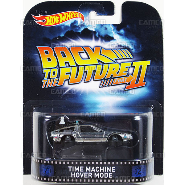 TIME MACHINE HOVER MODE (Back to the Future 2) - 2015 Hot Wheels Retro Entertainment H Case BDT77-996H by Mattel