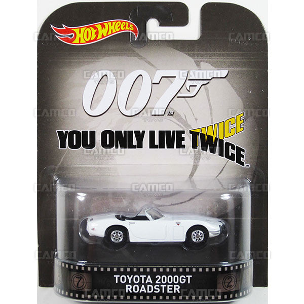TOYOTA 2000GT ROADSTER (James Bond 007) - 2015 Hot Wheels Retro Entertainment H Case BDT77-996H by Mattel