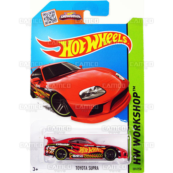 Toyota Supra #201 red (HW Workshop) - 2015 Hot Wheels Basic Mainline C4982
