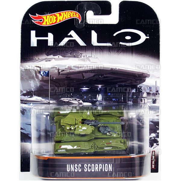 UNSC Scorpion  - 2017 Hot Wheels Retro Replica Entertainment B Case (HALO) Assortment DMC55-956B