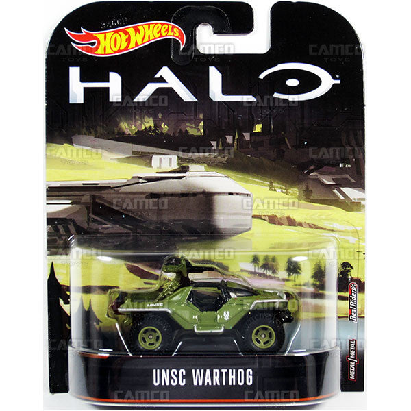 UNSC Warthog - 2017 Hot Wheels Retro Replica Entertainment B Case (HALO) Assortment DMC55-956B