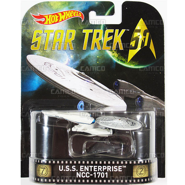 U.S.S. Enterprise NCC-1701 (STAR TREK 50th Anniversary) - 2016 Hot Wheels Retro Entertainment B Case Assortment DMC55-959B