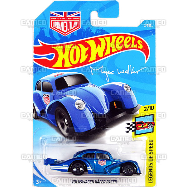VOLKSWAGEN KAFER RACER #2 blue Magnus Walker (Legends of Speed) - 2018 Hot Wheels Basic Mainline A Case Assortment C4982 by Mattel.