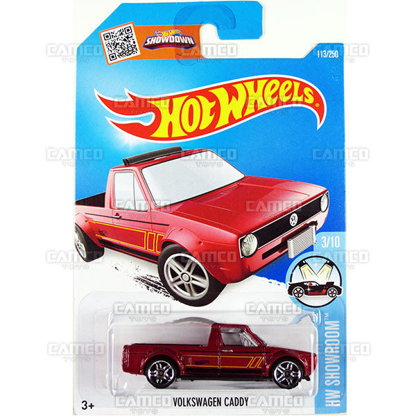 Volkswagen Caddy #113 Red - 2016 Hot Wheels Mainline C Case WorldWide Assortment C4982
