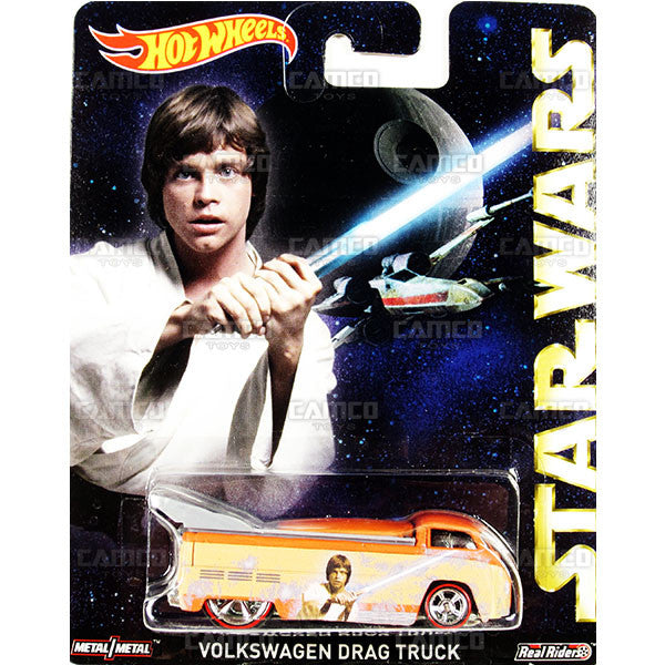 VOLKSWAGEN DRAG TRUCK (Luke Skywalker) - 2015 Hot Wheels Pop Culture E Case (STAR WARS) Assortment CFP34-956E by Mattel.