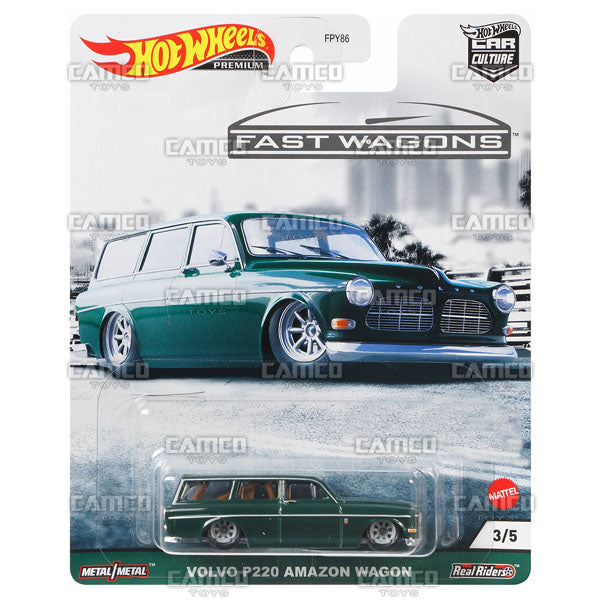 Volvo P220 Amazon Wagon - 2021 Hot Wheels Car Culture Fast Wagons Case B Assortment FPY86-957B by Mattel
