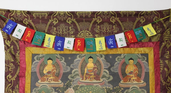 Handmade Tibetan Coloured Mini Prayer Flag - Ākāśa