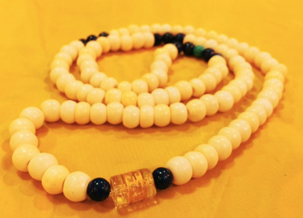 Natural Tibetan 6mm Bone 108 Beads Prayer Malas Necklace - Ākāśa
