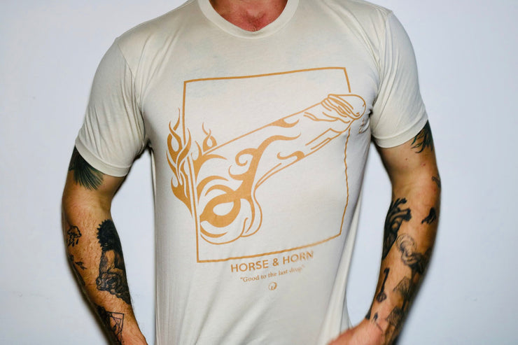 GOOD TO THE LAST DROP TRIBAL COCK T-SHIRT FLESH / CREAM
