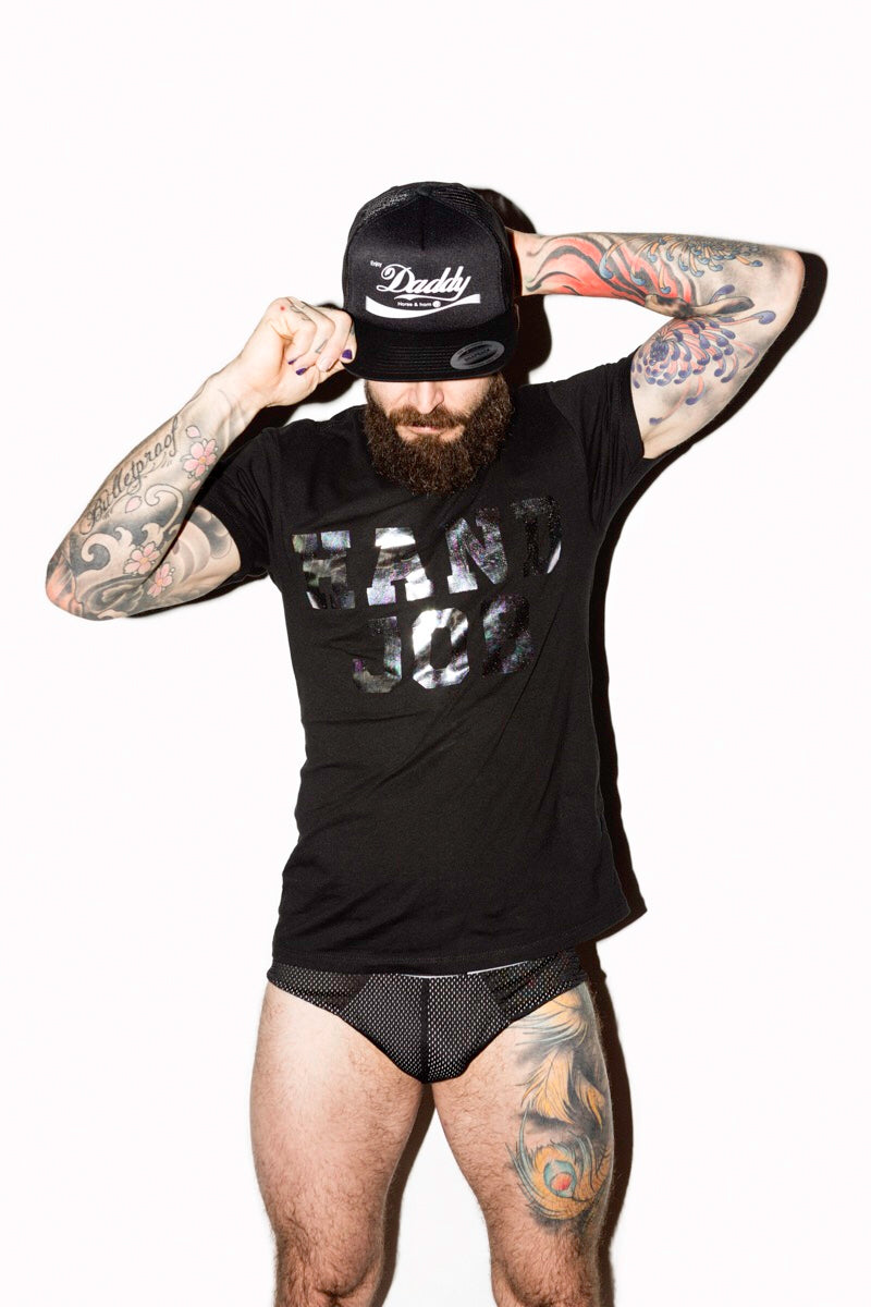 ENJOY DADDY 5 PANNEL MESH HAT BLACK