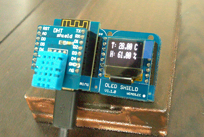 Wemos D1 Temperature Reading with Display