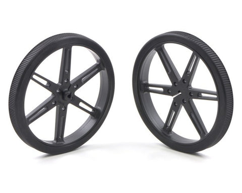 Pololu Wheel 80×10mm Pair - Black - Connected Cities