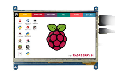 7 inch 1024x600 HDMI LCD Display with Touch Screen for Raspberry Pi - Connected Cities