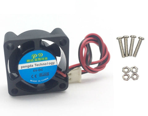 Active Cooling Mini Fan for Raspberry Pi 3 Model B / 2B / B+ - Black - Connected Cities
