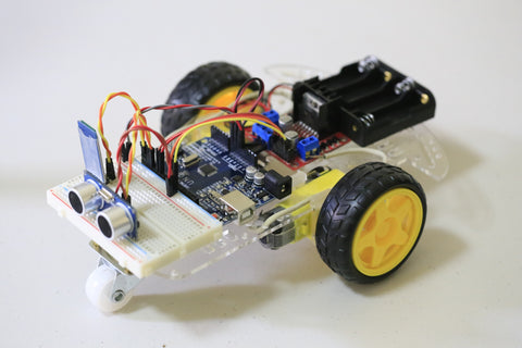 2WD Smart Robot Car Chassis DIY - Ultra Sonic Kit - Connected Cities