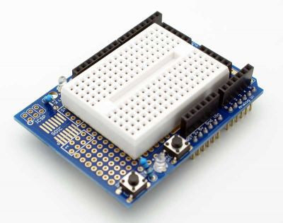 Protoshield with Breadboard - Connected Cities