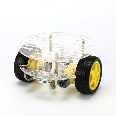 2WD Round Double-Deck Smart Robot Car Chassis DIY - Connected Cities