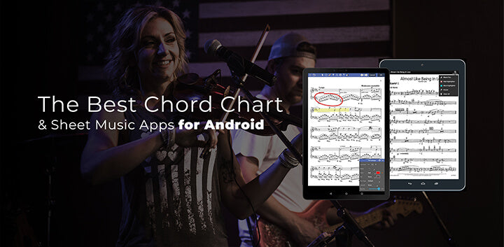 the best paperless digital sheet music chord chart apps for android tablet phone